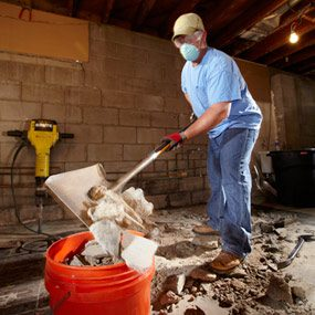 Move the debris out quickly and get rid of it promptly.