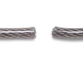 5/8-in. vinyl-coated flexible braided steel cable.