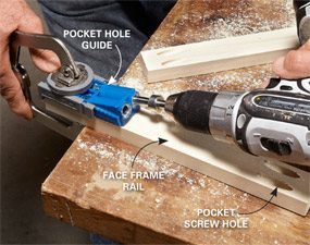 Photo 5: Drill the pocket holes
