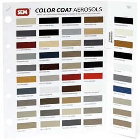 SEM product color chart.
