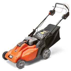 Photo of Black & Decker SPCM 1936 19-in. self-propelled cordless lawn mower.