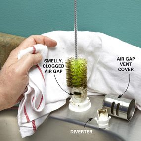 Clean the air gap with a brush