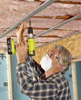 """Install  a """"floating"""" basement ceiling"""