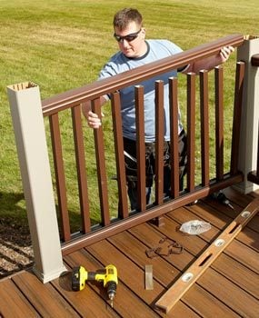 Rebuild An Old Deck With New Decking And Railings Family