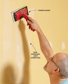 "Use a ""wall size"" primer/sizing product"