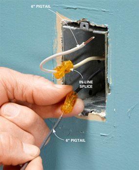 Splice short wires