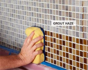 Removing grout haze