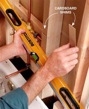 Straighten the walls before installing backer board