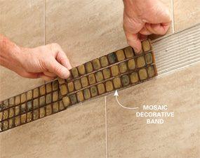 Set the tile
