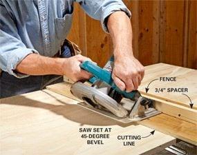 Photo 2: Cut the beveled edges