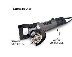 Family Handyman Senior Editor Gary Wentz's stone router.