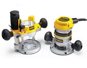 DeWalt DW616PK combo-base wood router.