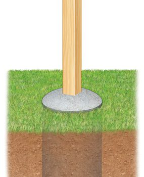 Figure A: Fence post footing