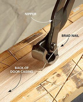 End nippers pull nails more easily