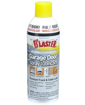 Spray can of garage door lube.