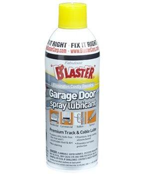 Spray can of garage door lube.