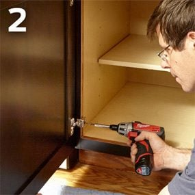 Order new doors and replace the old ones when refacing kitchen cabinets.