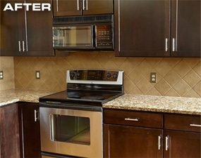 Cabinet Refacing Changes The Entire Look Of The Kitchen.