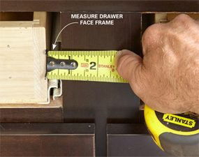 Measure for the drawer overlays.