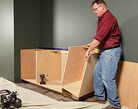 Make smaller boxes for the face frame cabinet, instead of one large box.