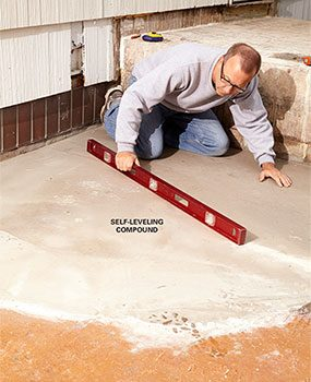 Fix any water problems before you build a deck over a concrete patio.
