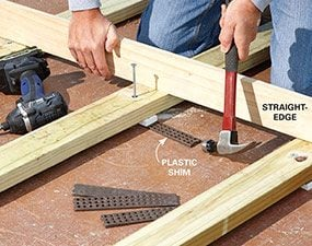 Bon How To Build A Deck Over A Concrete Patio