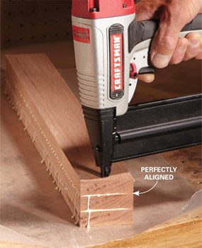 Keep boards in place with brad nails