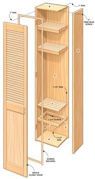 Figure A shows how to build mudroom lockers.