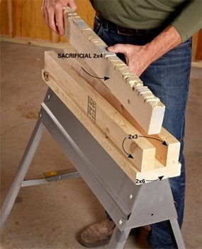 Channels make sawhorses more useful