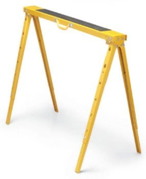 Metal sawhorses are solid, but cost more.