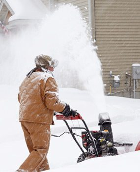 Snow blowing goes easier and faster when you throw snow clear of the driveway.