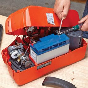 Install the new battery and you're ready for jump starting.