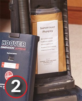 Thieves never use vacuum cleaners