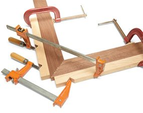 Put extra pressure on miter joints