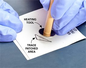 Photo 2: Cure the patch with heat