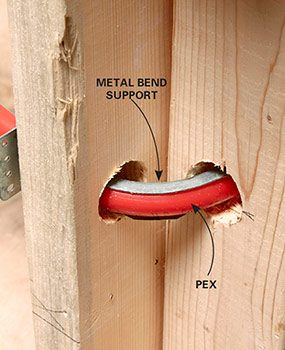 Metal bend support