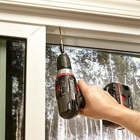 Make sliding doors in your home more secure with anti-jacking screws.
