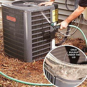 Photo 2: Clean the condenser coils