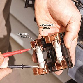 Photo 3: Check the fuses in the disconnnect block