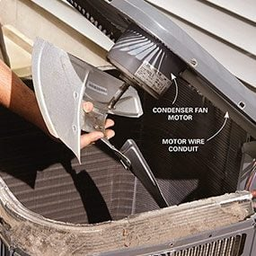 The final DIY repair that may be needed to fix your air conditioner is to replace the fan motor.