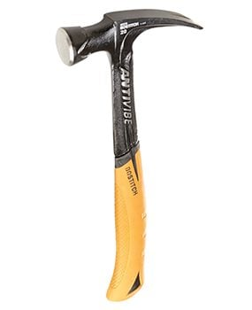 The Bostitch 20 oz. hammer has good balance and is inexpensive, but unlike the best hammers has no nail starter.