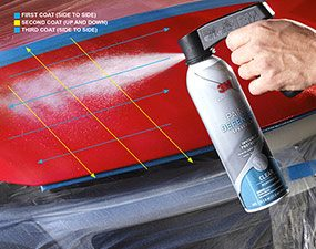 Photo 3 shows how to apply the paint protection film.