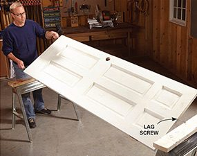 Painting doors goes faster when you can simply flip the door. : painting door - pezcame.com