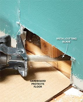 Move the protruding stud by cutting the nails and pushing it back.