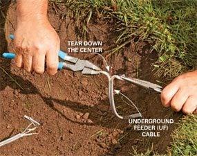 Separate the broken underground wire.