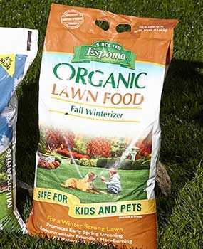 Organic lawn fertilizer.