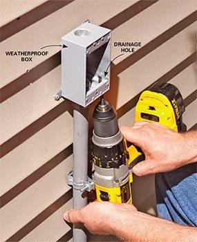 how to run coax cable through exterior wall