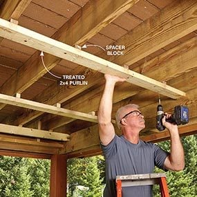 how to build a deck roof