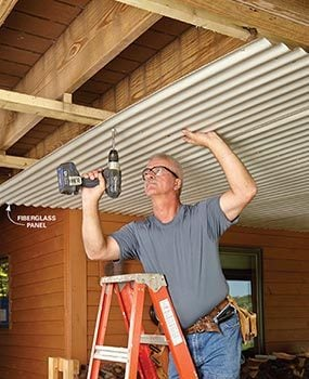 Under deck roof the family handyman for How do you build a deck yourself