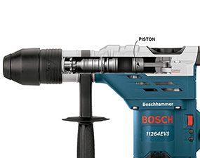 A rotary hammer drill has more power than a hammer drill, and can also be used as a chisel.